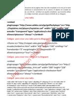 Còdigos Javascript para tu Blogspot