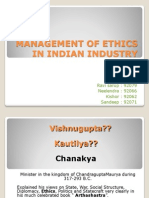 Mgmt of Ethics in Indian Industry