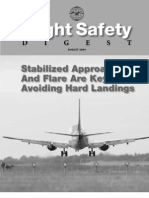 Flight Safety Digest - Stabilized Approach and Flare