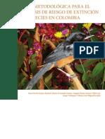 Guía metodológica para el análisis de riesgo de extinción de especies en Colombia