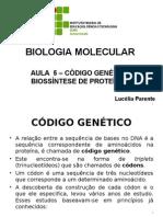 Aula 05 -Código Genético. Biossíntese de Proteínas
