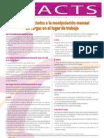 Factsheet 73 - Riesgos Asociados a La Manipulacion Manual de Cargas en El Lugar de Trabajo