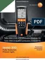 Testo 310 Manual Testo 320 Testo 310 Guide