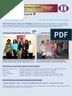 E-Newsletter Area H4 9-2012