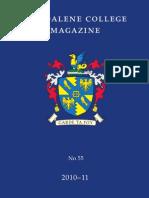 Magdalene College Cambridge, Magazine 2010-2011
