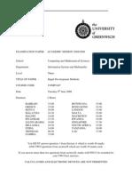 Sample of Rapid Development Methods Exam (June 2009) - UK University BSc Final Year