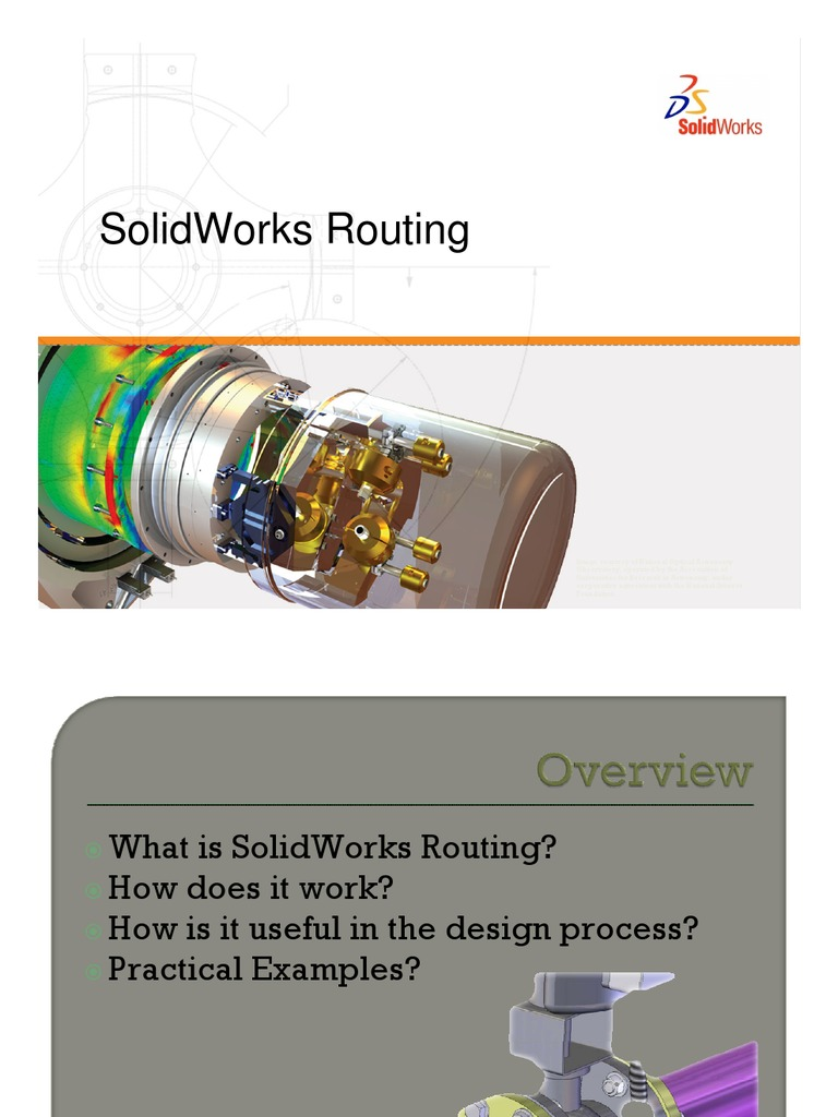 Routing Cable Pipe Fluid Conveyance Piping Diagram Solidworks