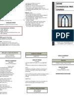 Church Bulletin- August 26th