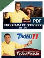 Programa de Governo Tadeu Palácio