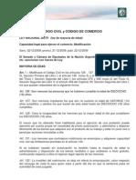 Modificación CÓDIGO CIVIL y CÓDIGO DE COMERCIO