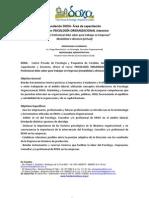 Curso de Psicología Organizacional (mod a distancia) - INTENSIVO