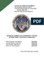 PRESENTACIÓN Y REVELACIÓN DEL ESTADO DE CAMBIOS EN EL PATRIMONIO Y ESTADO DE RESULTADOS Y GANANCIAS ACUMULADAS