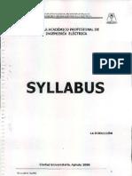 Syllabus de Electrica