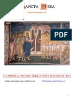 Livret Messe du 13e Dimanche après la Pentecôte / Booklet Mass of the 13th Sunday after Pentecost