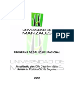 Programa Salud Ocupacional 2012