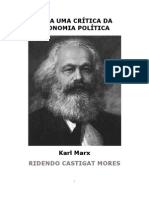 Karl Marx Para Uma Crítica Da Economia Política