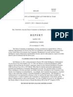 Intellegence Athorization Act FY 2012srpt112-43