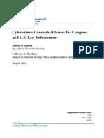 CRS Cybercrime-Conceptual Issues & Law Enforcement