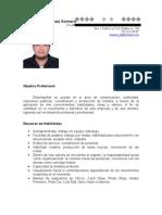 Curriculum Manuel para proyecto guaymas tv de telemax.
