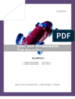 TUGAS FISIKA - Soal Dan Pembahasan Teori Kinetik Gas