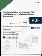 Rms Von Mises Random Vibrations