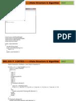MELJUN CORTES - DATA STRUCTURE & ALGORITHM - Compilation of Program
