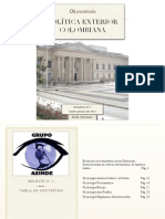 Observatorio Política Exterior Colombiana. Boletín N°2. Issn