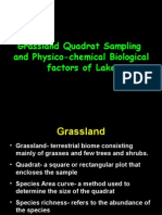 Quadrat Sampling and Physico-chemical Factors in Lake Ecosystems