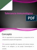 Tolerancia Inmunológica