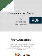 Communication Skills -Amoeba