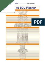 EDC 16 ECU Flasher Application Lists