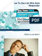 How to Use List Wire Auto Responder
