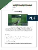 Counseling Report by Khushbu Dodiya