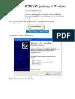 Installing USBTINY Programmer in Windows