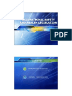 Chapter 2 - Occupational Safety and Health Legislation
