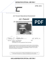 Army Report on Palantir Software System