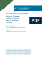 Georgia—National Security Concept versus National Security