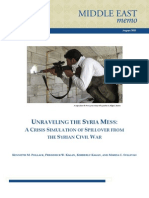 Unraveling the Syria Mess—Crisis Simulation of Spillover From the Syrian Civil War