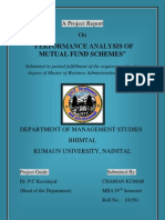 Project on Comaparative Study of Mutual Funds