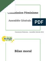 Assemblée Générale 2012 de la commission féminisme d'EELV