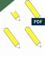Pencil Flash Cards