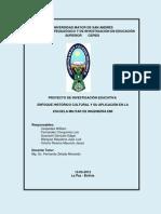 PROYECTO DE INVESTIGACIÓN EDUCATIVA
