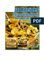 Frugal Recipes 26 Easy Ground Beef Recipes for Dinner eCookbook