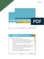 Konsep Dasar Analisis Sistem Informasi