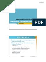 Stakeholder Sistem Informasi