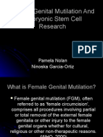 Perpetuation of Female Slavery through Embryonic Stem Cell research and female genital mutilation