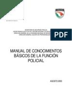 Manual de Conocimientos Basicos de La Funcion Policial