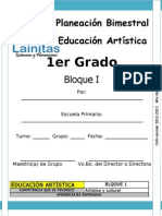 1er Grado - Bloque 1 - Educación Artística