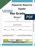4to Grado - Bloque 1 - Español