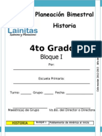 4to Grado - Bloque 1 - Historia